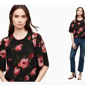 Wilfred Cambrai slightly cropped floral blouse